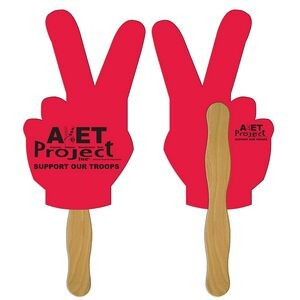 Peace Sign Fast Hand Fan (2 Sides) 1 Day